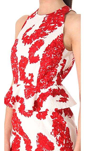 Giambattista Valli Printed Peplum Dress
