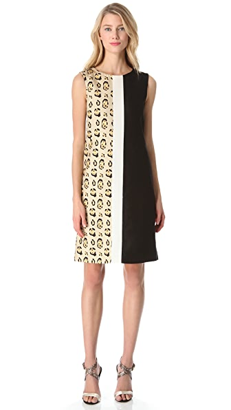Giambattista Valli Leopard Combo Dress