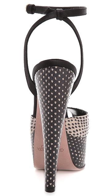 Giambattista Valli Snakeskin Platform Sandals