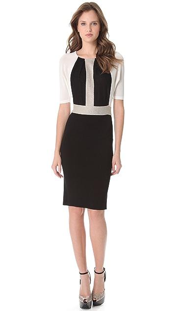 Giambattista Valli Colorblock Knit Dress