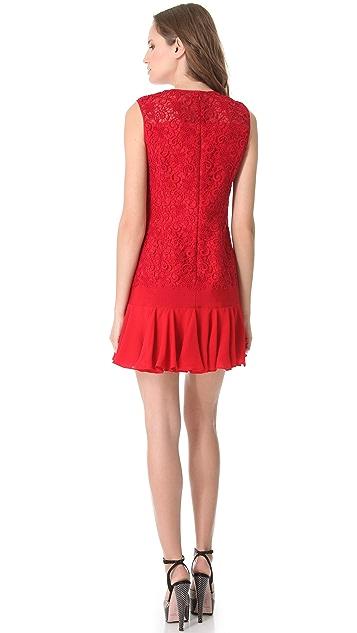 Giambattista Valli Lace Drop Waist Dress