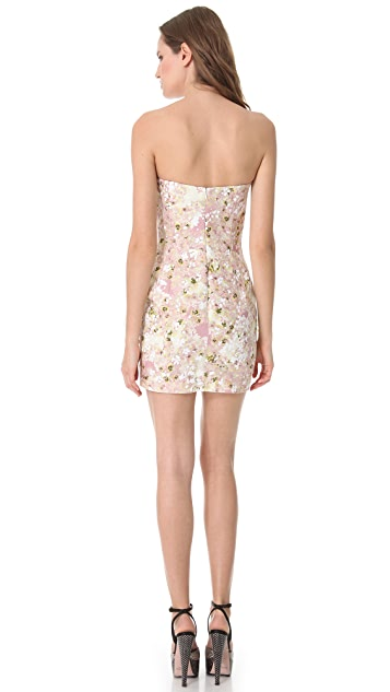 Giambattista Valli Ruffle Frame Strapless Dress