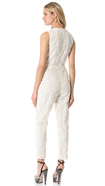 Giambattista Valli Sleeveless Lace Jumpsuit