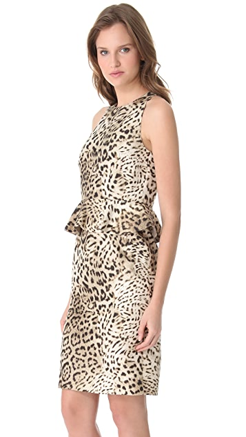 Giambattista Valli Leopard Peplum Dress
