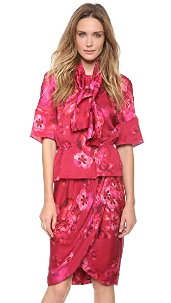 Giambattista Valli Printed Silk Blouse