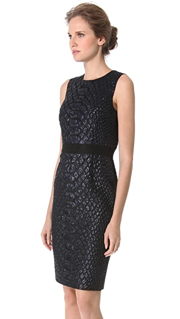 Giambattista Valli Croco Jacquard Dress