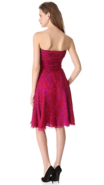 Giambattista Valli Strapless Silk Dress