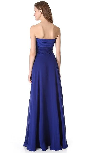 Giambattista Valli Strapless Silk Gown