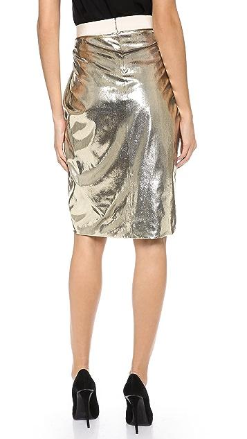 Giambattista Valli Gold Shimmer Skirt