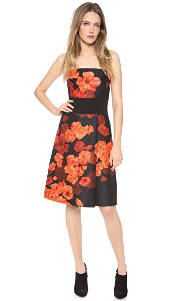 Giambattista Valli Floral Strapless Dress