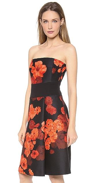 Giambattista Valli Floral Strapless Dress