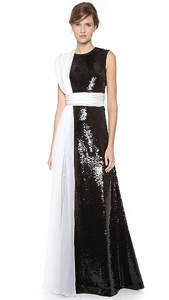 Giambattista Valli Two Tone Paillettes Gown