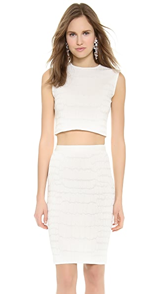 Giambattista Valli Croc Knit Shell Top