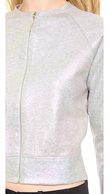 Giambattista Valli Cotton Sweatshirt Bomber