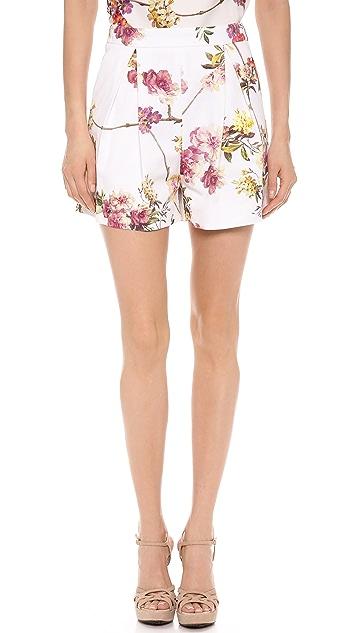 Giambattista Valli Brocade Twill Shorts