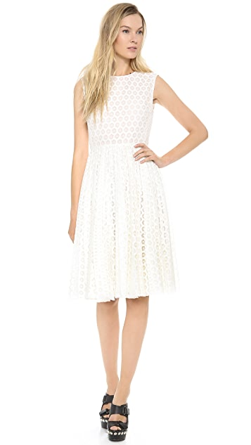 Giambattista Valli Flocked Sleeveless Dress