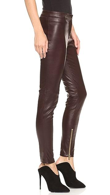 Giambattista Valli Leather Pants