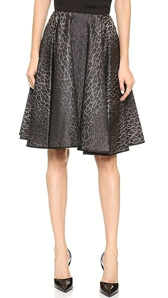 Giambattista Valli Leopard Jacquard Skirt