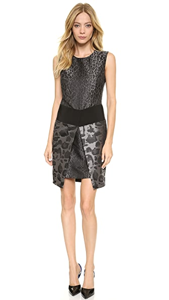 Giambattista Valli Leopard Jacquard Dress