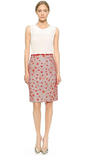 Giambattista Valli Honeycomb Lace Skirt