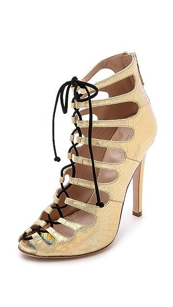 Giambattista Valli Iridescent Snakeskin Sandals
