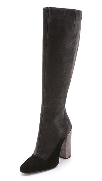 Giambattista Valli Tricolor Suede Boots
