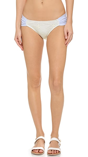 Giejo Mixed Side Ruched Bikini Bottoms