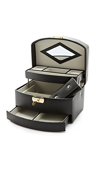 Gift Boutique Three Level Jewelry Box In Black