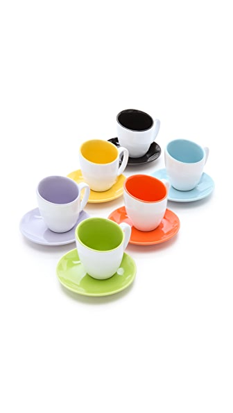 Gift Boutique Classic Coffee & Tea Glazed Espresso Cup Set
