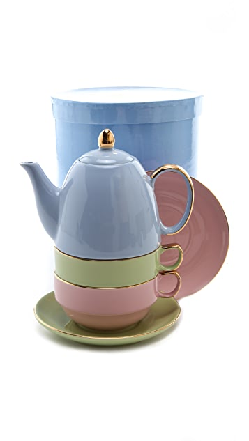 Gift Boutique Classic Coffee & Tea for Two Set