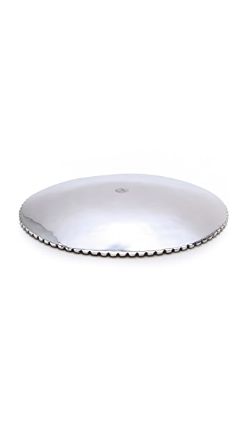 Gift Boutique Lunares Large Beaded Serving Plate