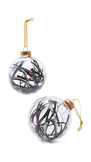 Gift Boutique Glass & Recycled Paper Ornaments