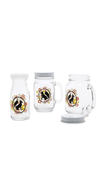 Gift Boutique Mrs. & Mr. Fox Mason Jar Set
