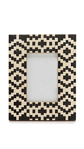 Gift Boutique Geometric Inlay Picure Frame