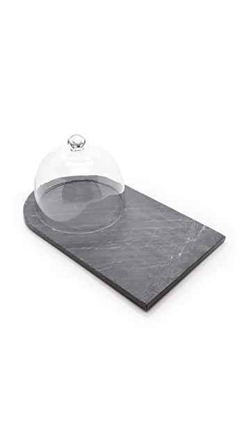 Gift Boutique Piedmont Slate Cheese Board with Cloche