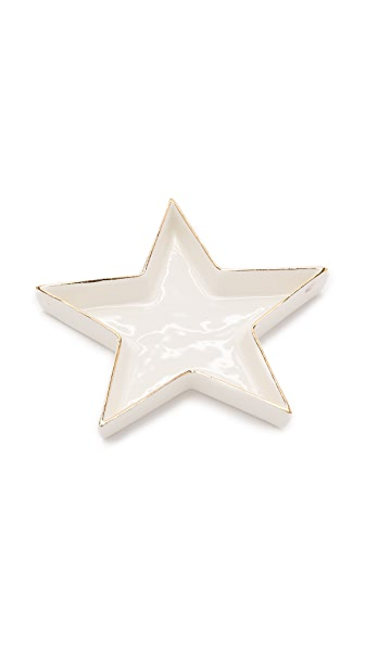 Gift Boutique Star Trinket Tray In White