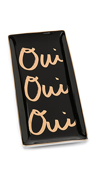 Gift Boutique Oui Oui Oui Tray - Black/Gold
