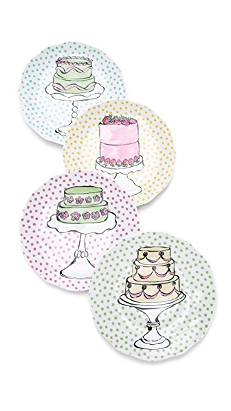Gift Boutique Eat Dessert First Plate Set - Multi