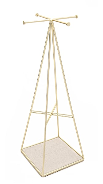 Gift Boutique Prisma Jewelry Stand - Matte Brass