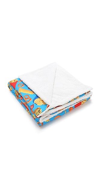 Gift Boutique Junk Food Sherpa Blanket