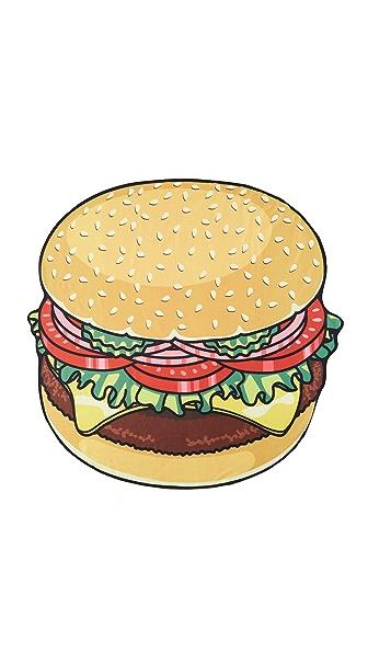 Gift Boutique Gigantic Burger Beach Blanket - Multi