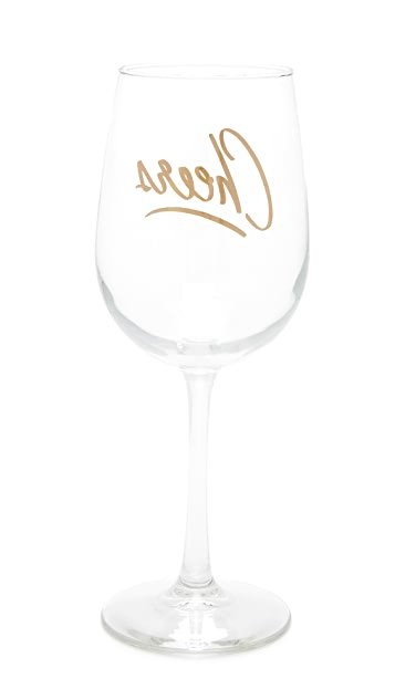 Gift Boutique Cheers Wine Glass