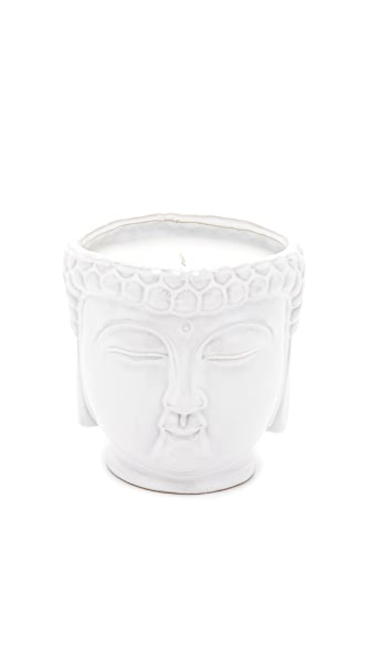 Gift Boutique Thompson Ferrier Buddha Candle - White