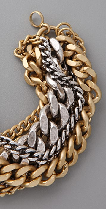 Giles & Brother Giant Multi Chain Bracelet