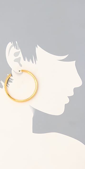 Giles & Brother Large Spike Hoops
