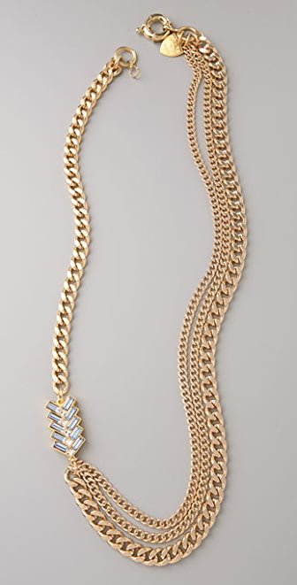 Giles & Brother Multi-Chain Chevron Necklace