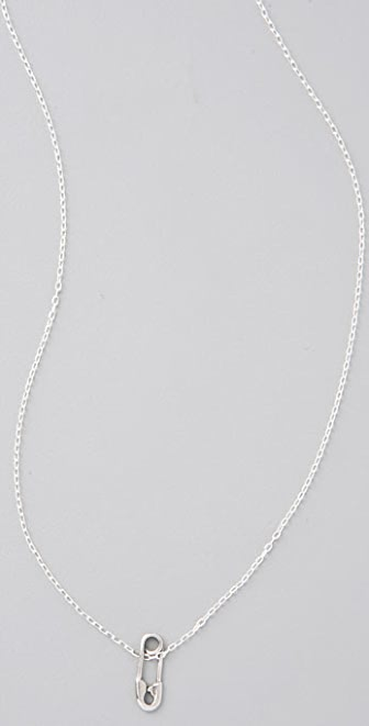 Giles & Brother Tiny Safety Pin Necklace