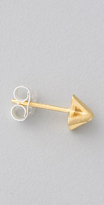 Giles & Brother X Pyramid Stud Earrings