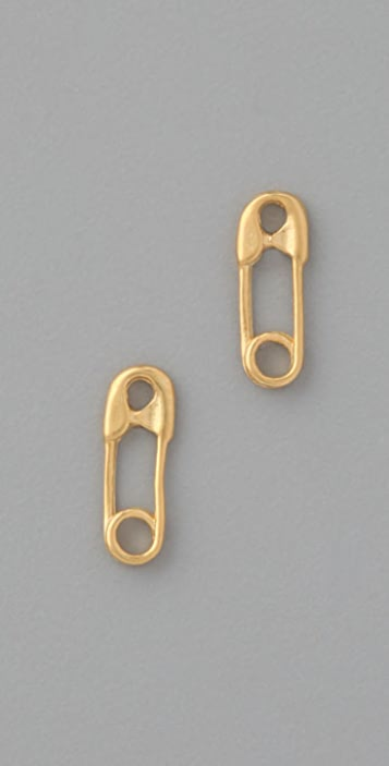 Giles & Brother Tiny Safety Pin Studs