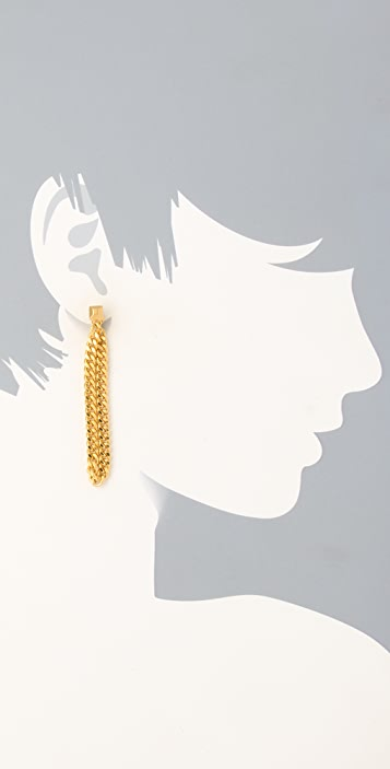 Giles & Brother Hanging Chain Earrings
